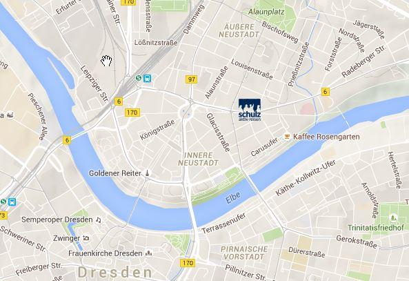 Karte mit Sitz der Firma