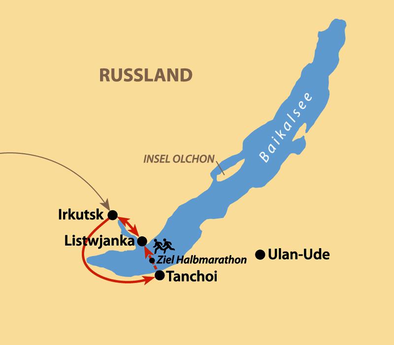 Karte: Baikal Ice Marathon