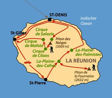 Karte: La Réunion - Das große Abenteuer (individuell)