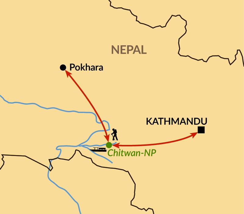 Karte: Verlängerungsbaustein: Chitwan Nationalpark