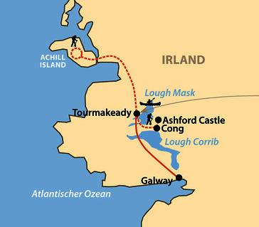 Karte: Multiaktiv im Westen Irlands