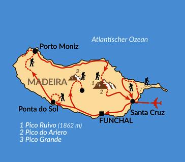 Karte: Das immergrüne Wanderparadies