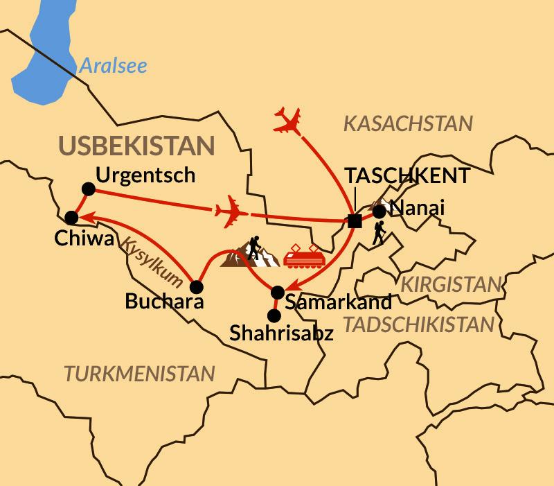 Karte: Juwele der Seidenstraße