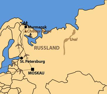 Karte: Murmansk Ski Marathon 2020 Russia- und Euroloppet