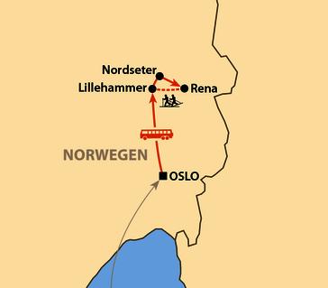 Karte: Skimarathon Birkebeiner Rennet 2022