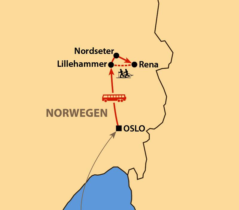 Karte: Skimarathon Birkebeiner Rennet 2021