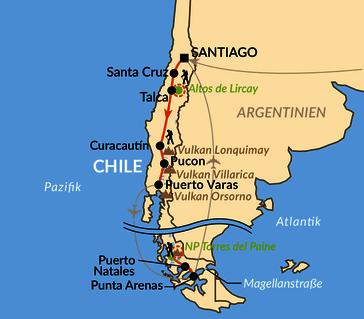 Karte: Auf den Spuren des Kondors