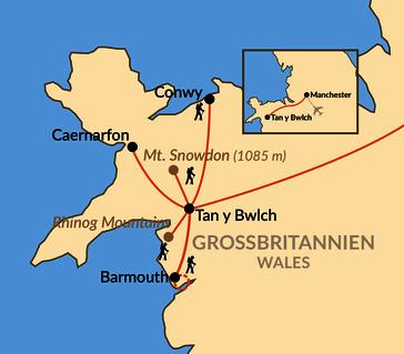 Karte: Sagenhaftes Wales