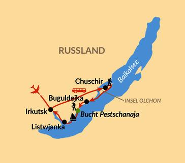 Karte: Baikal – Sommertrekking am Baikalsee