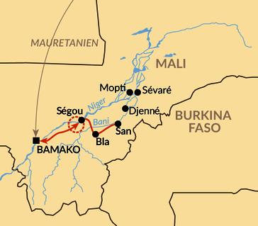 """Karte: Das """"Festival sur le Niger"""" in Ségou"""