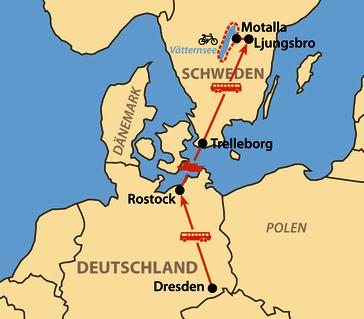 Karte: Vätternrundan 2020 - 300 km per Rad