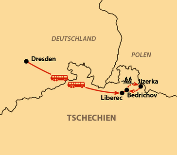 Karte: Jizerská padesátka - Isergebirgslauf 2021