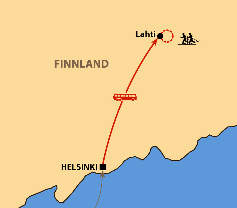 Karte: Skimarathon Finlandia Hiihto