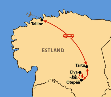 Karte: Tartu Skimarathon