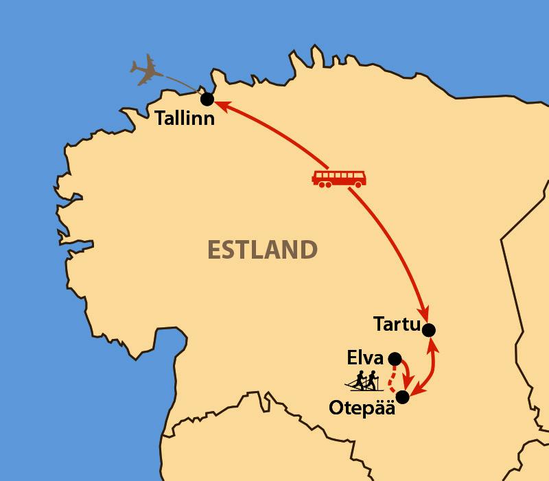 Karte: Tartu Skimarathon 2021