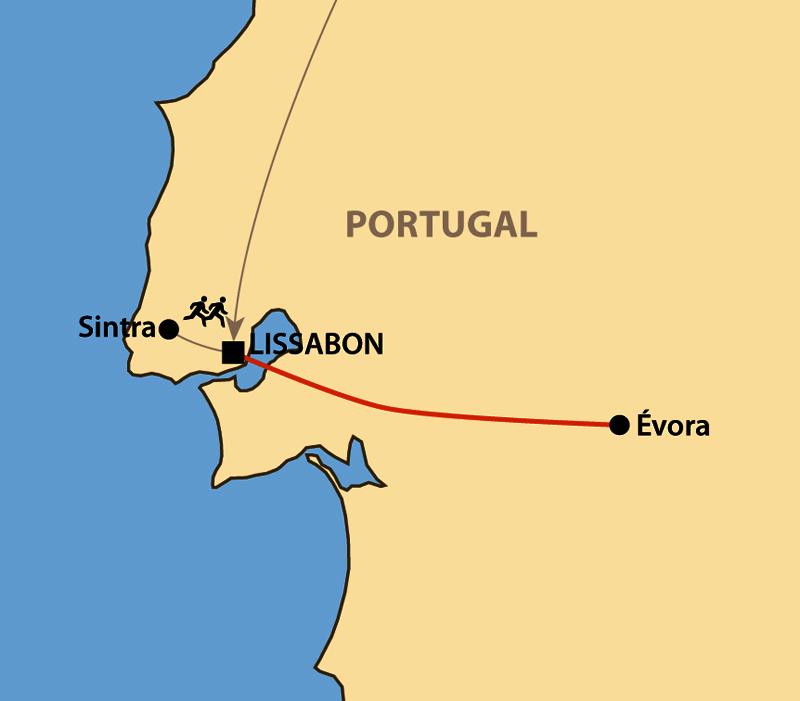 Karte: Lissabon Halbmarathon