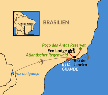 Karte: Verlängerung: Atlantischer Regenwald – das grüne Herz Brasiliens