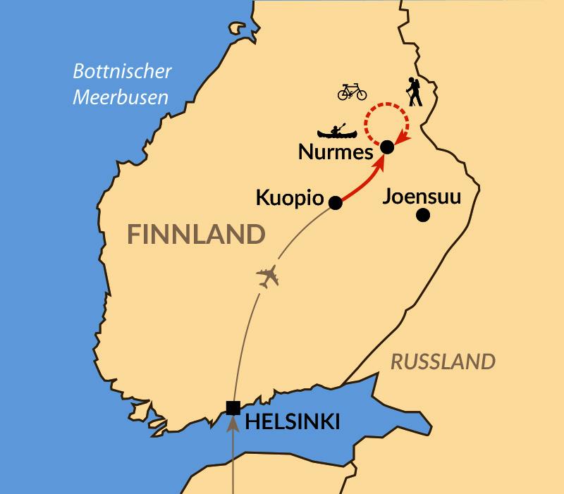 Karte: Seensucht: Helle Nächte in Finnisch-Karelien