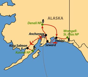 Karte: Alaskas Ruf der Wildnis