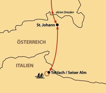 Karte: Skimarathon Toblach - Cortina 2020