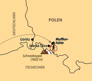 Karte: Pfingstcamp in der Mufflonhütte