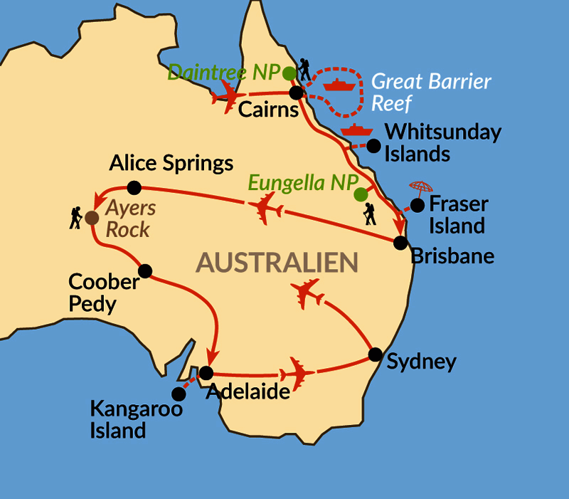 Karte: Terra Australis