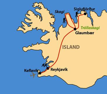 Karte: Reykjavík-Marathon