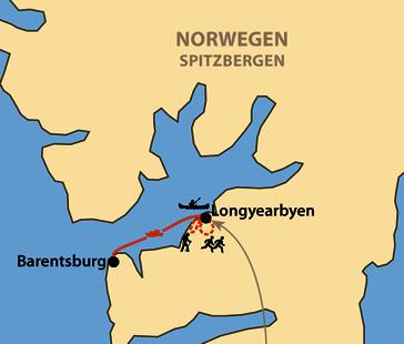 Karte: Spitzbergen-Marathon