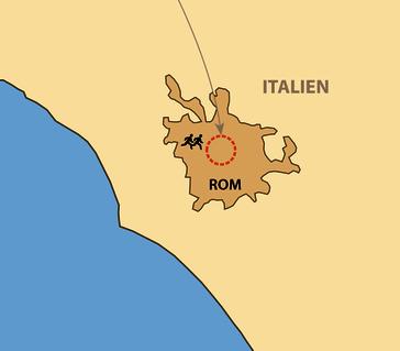 Karte: Rom-Marathon