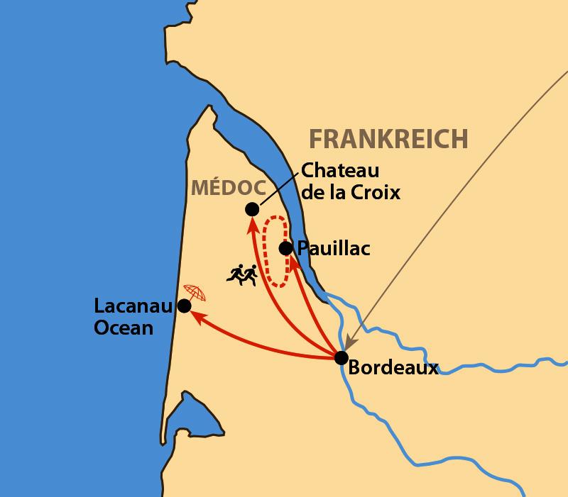 Karte: Médoc-Marathon