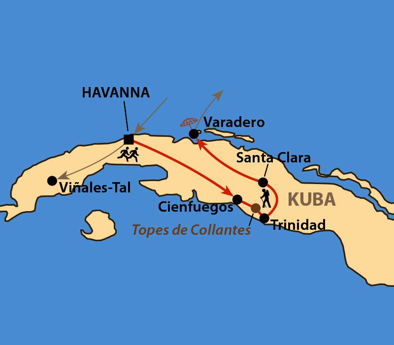 Karte: Havanna-Marathon