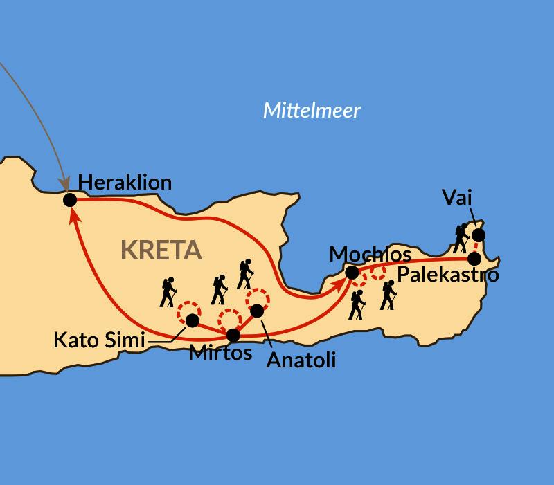 Karte: Kretas ursprünglicher Osten: 2021 mit Sommer-Special!