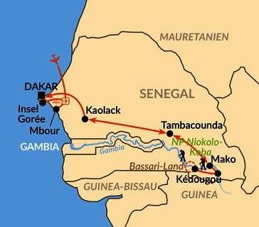 Karte: Zum Initiationsfest der Bassari