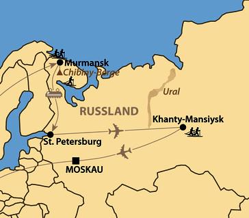 Karte: Ugra Ski Marathon in Khanty Mansiysk
