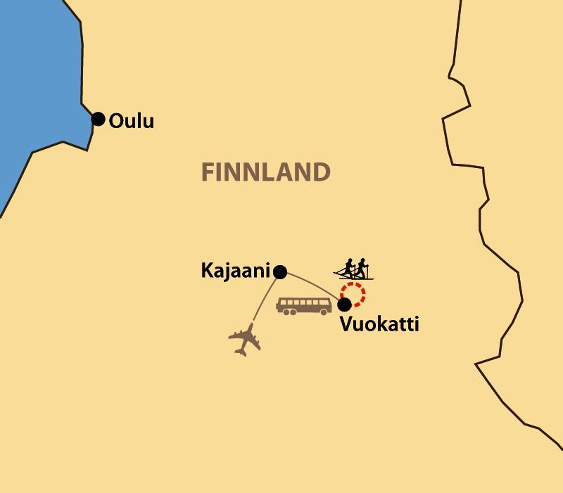 Karte: Vuokatti Hiihto