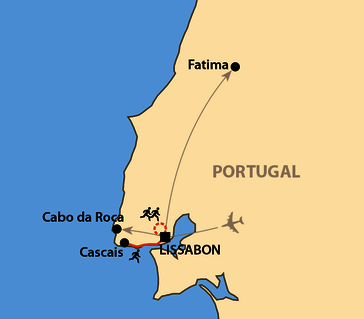 Karte: Lissabon Marathon