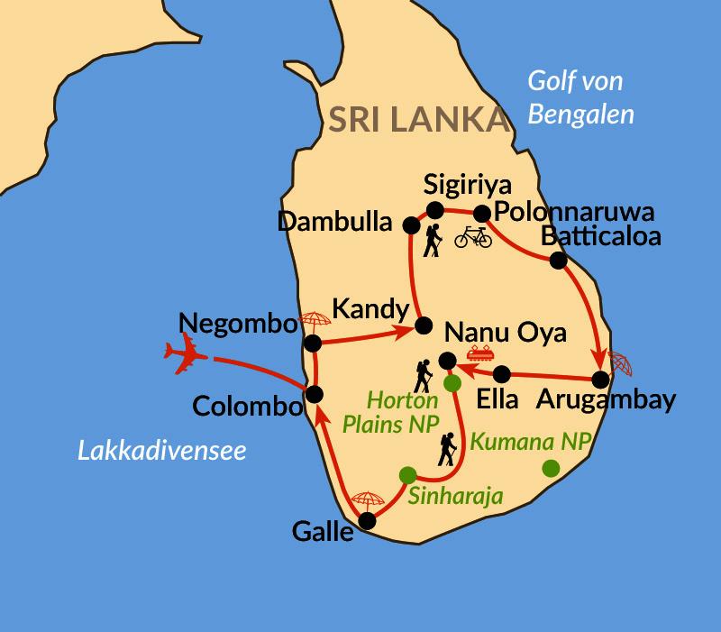 Karte: Kulturschätze und Wanderabenteuer im Inselparadies