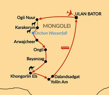 Karte: Auf den Spuren der Nomaden