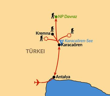 Karte: Der Paulusweg – auf alten Pfaden durch das Taurusgebirge