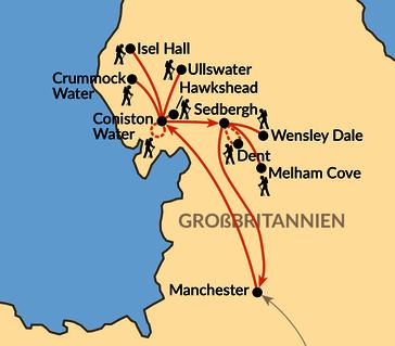 Karte: Der Lake District - Englands schönste Seite