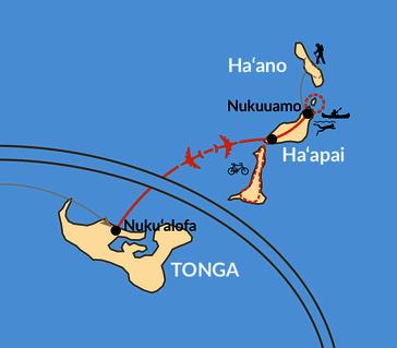 Karte: Individuelle Verlängerung: Inselparadies Tonga
