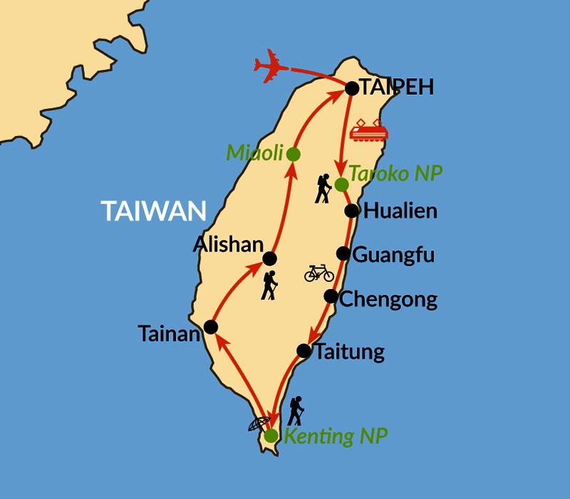 Karte: Zwischen Teebergen und Traumküsten