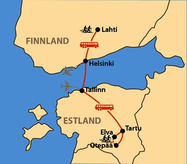 Karte: Kombination Tartu & Finlandia Hiihto 2020