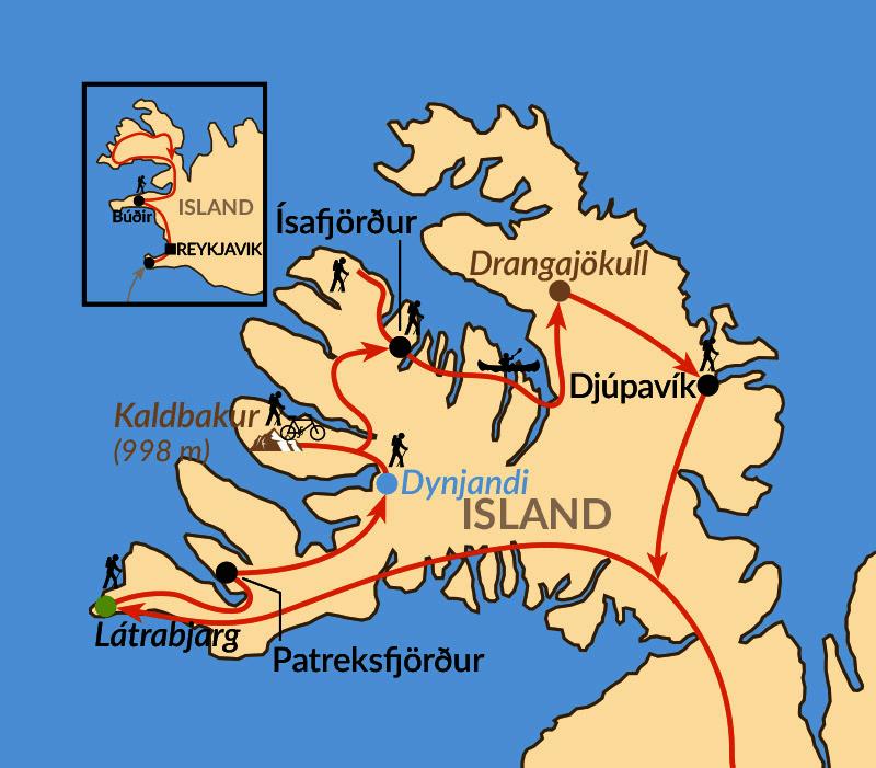 Karte: Wildromantische Westfjorde