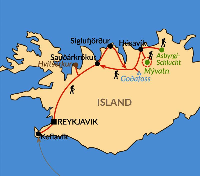 """Karte: """"Mein Island"""" im Winter"""