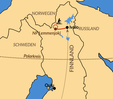 Karte: Skierlebnis im Sami-Land