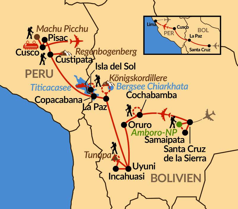 Karte: Wunder der Anden