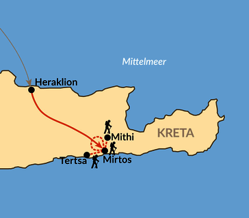 Karte: Kreta im Winter