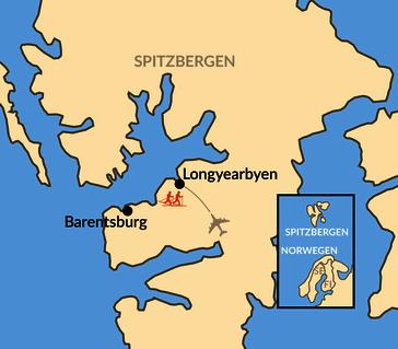 Karte: Svalbard Skimarathon