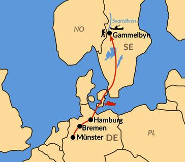 Karte: Jugendreise - Wildniswoche vom Silberweg bis zum Einsamen See